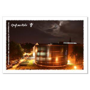 Postkarte von Halle: Großgarage Süd in der Pfännerhöhe