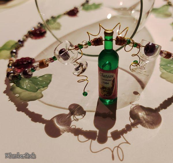 Halskette für Weinliebhaberinnen *Vin Rouge*