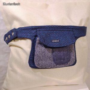 Edle Gürteltasche aus Tweed in Blau