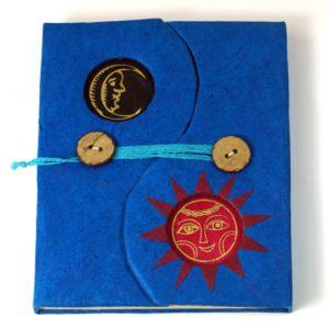 Notizbuch aus Lokta-Papier in Blau