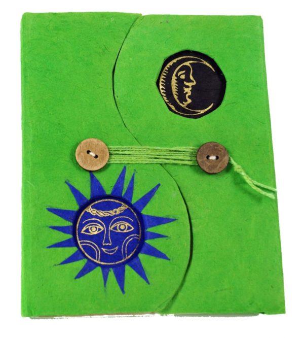 Notizbuch aus Lokta-Papier in Grün