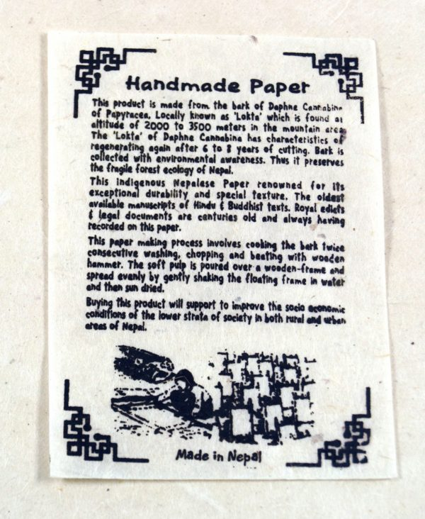 Notizbuch aus Lokta-Papier