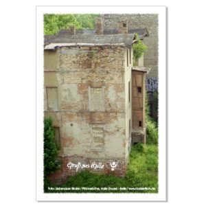 Postkarte von Halle: Verfall