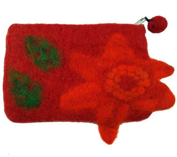 Filz-Täschchen in Rot