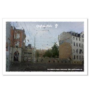 Postkarte von Halle: Reileck