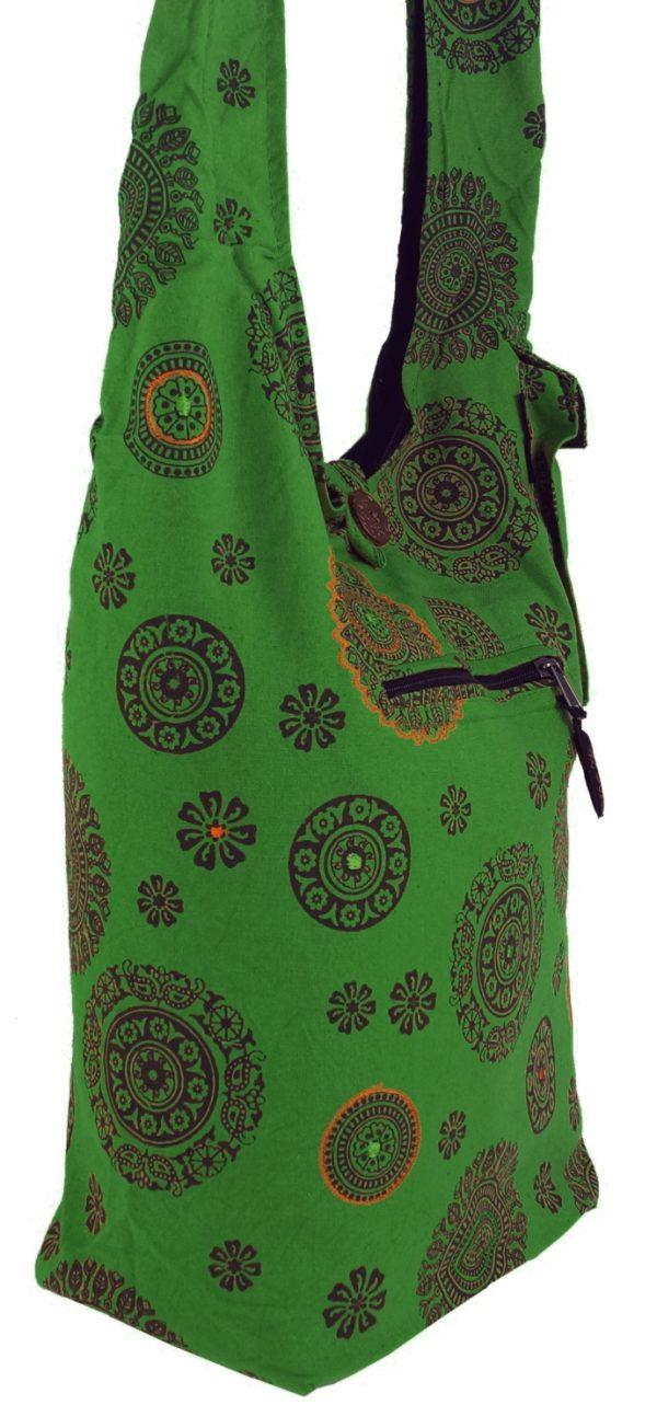Lässige Sadhu Bag in Grün