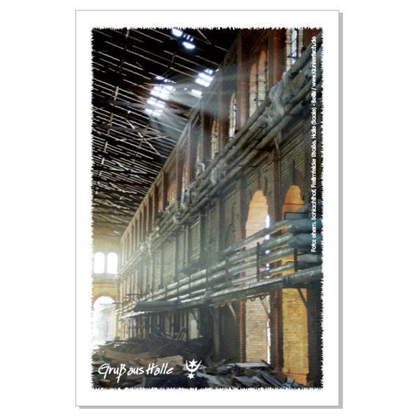 Postkarte von Halle: Alter Schlachthof