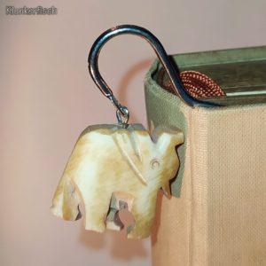 Lesezeichen aus Metall mit Anhänger *Elefant*