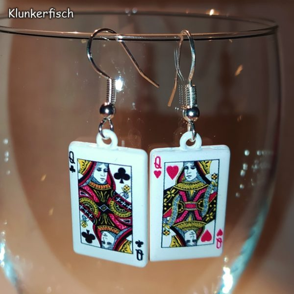 Ohrringe mit Spielkarten