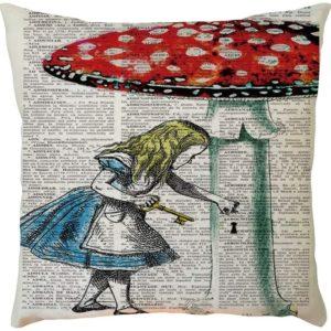 Kissen-Hülle mit Motiv aus Alice im Wunderland