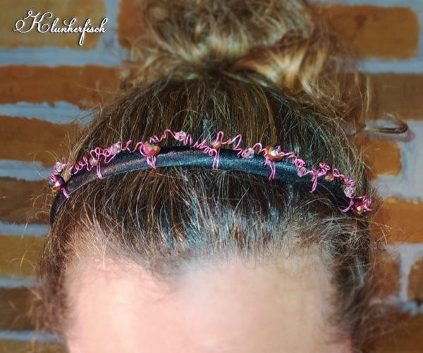 "Bridgerton-Haarreifen / Fascinator ""Philippa"""