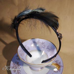"""Bridgerton-Haarreifen / Fascinator """"Lady Danbury"""""""