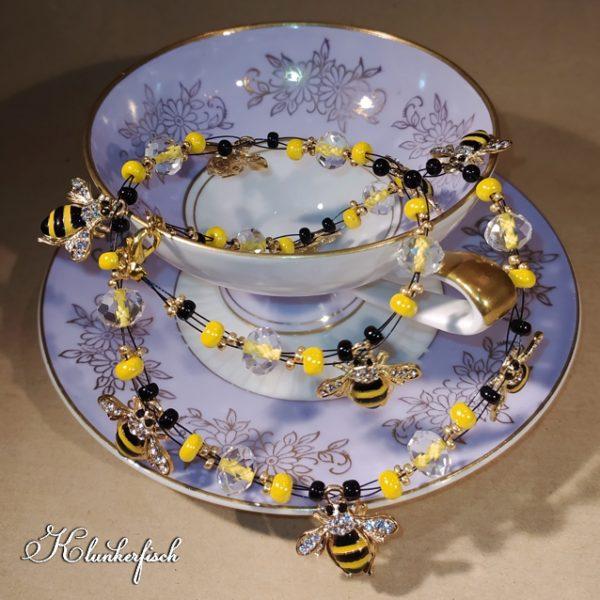 """Bridgerton-Halskette """"Bienenschwarm"""""""