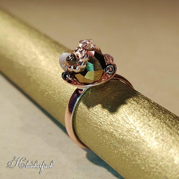 Bridgerton-Ring in Roségold, Kupfer und Creme
