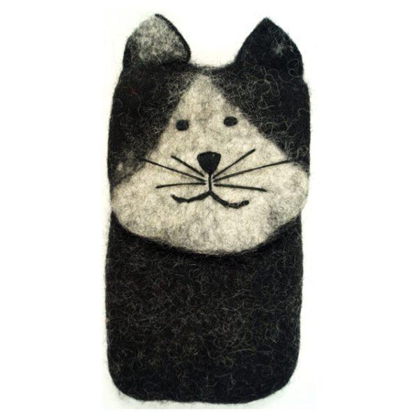 Handytasche aus Filz *Katze*
