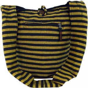 Coole Sadhu Bag in gelb-schwarz gestreift
