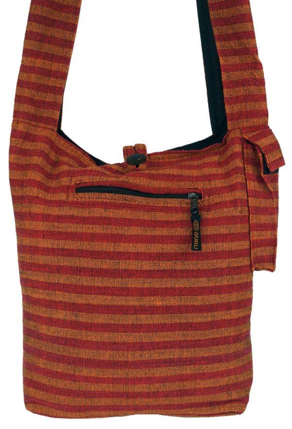 Coole Sadhu Bag in orange-rot gestreift