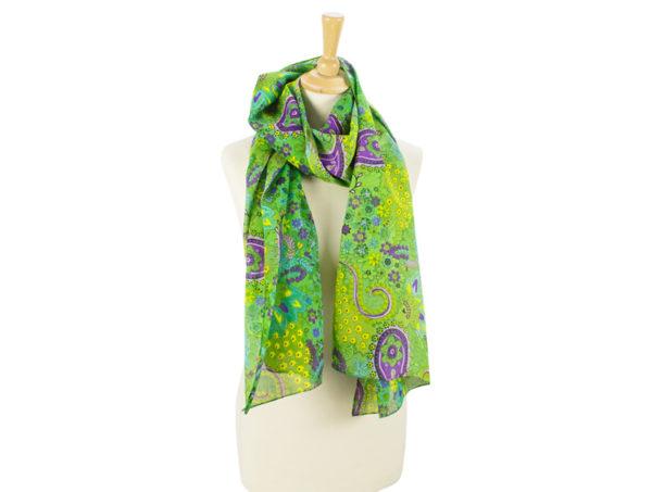 Paisley-Tuch aus Viskose in Grün