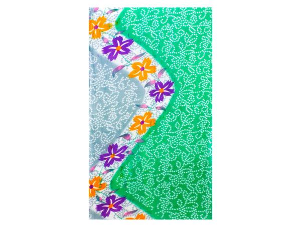 Sommerliches Tuch aus Baumwolle in Grün und Hellblau