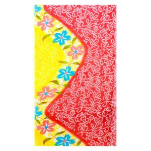 Sommerliches Tuch aus Baumwolle in Rot und Gelb