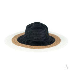 Sommer-Hut in Weiß, Schwarz und Beige