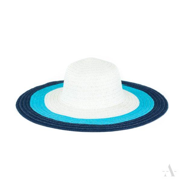 Sommer-Hut in Weiß, Hellblau und Dunkelblau