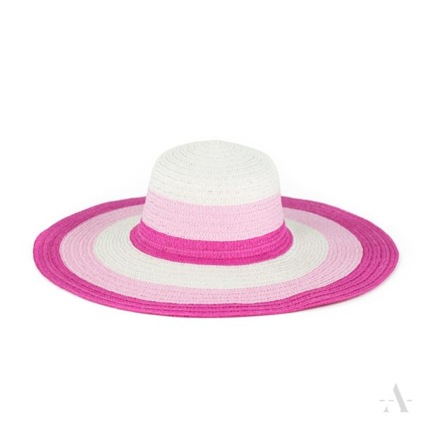 Sommer-Hut in Weiß, Pink und Rosa