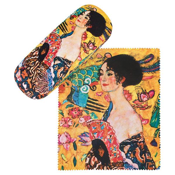 Gustav-Klimt-Brillenetui *Dame mit Fächer*