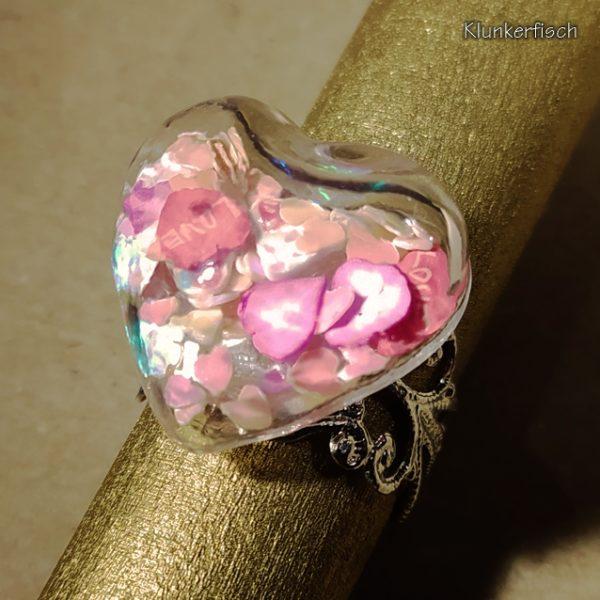 "Herz-Ring ""Floating Heart"""
