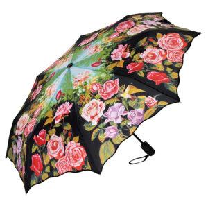 Regenschirm / Taschenschirm mit Rosen