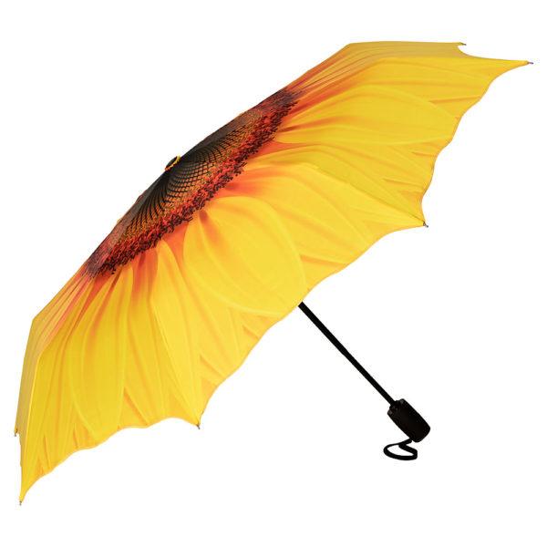 Regenschirm / Taschenschirm *Sonnenblume*
