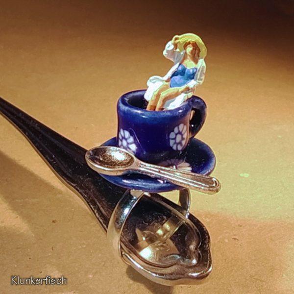 Ring mit Kaffeetasse *Guten Morgen, du Schöne*