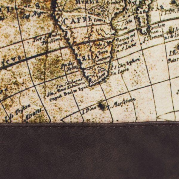 Kleiner Rucksack / Turnbeutel mit Weltkarte