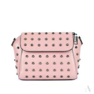 Kleine Tasche mit Nieten in Rosa
