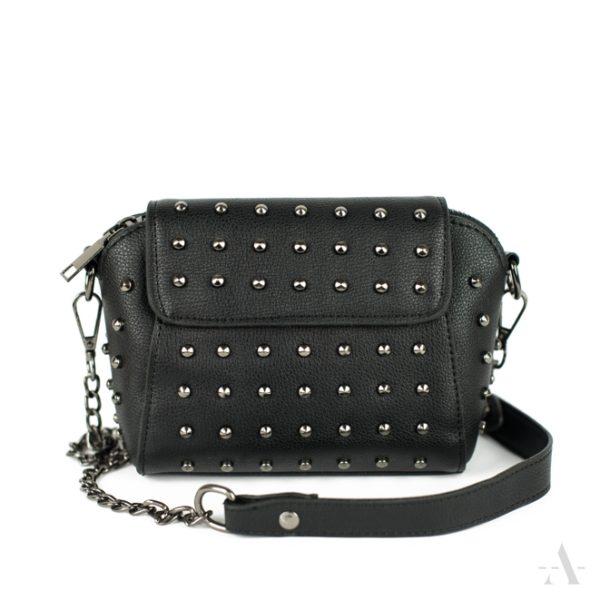 Kleine Tasche mit Nieten in Schwarz