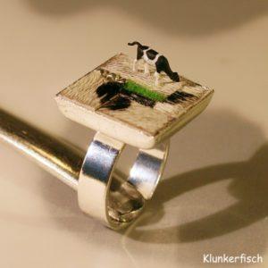 Fingerring *Patchwork mit Kuh*