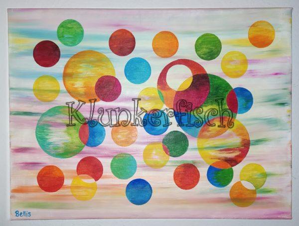Acrylbild *Bunte Kreis-Träumerei*