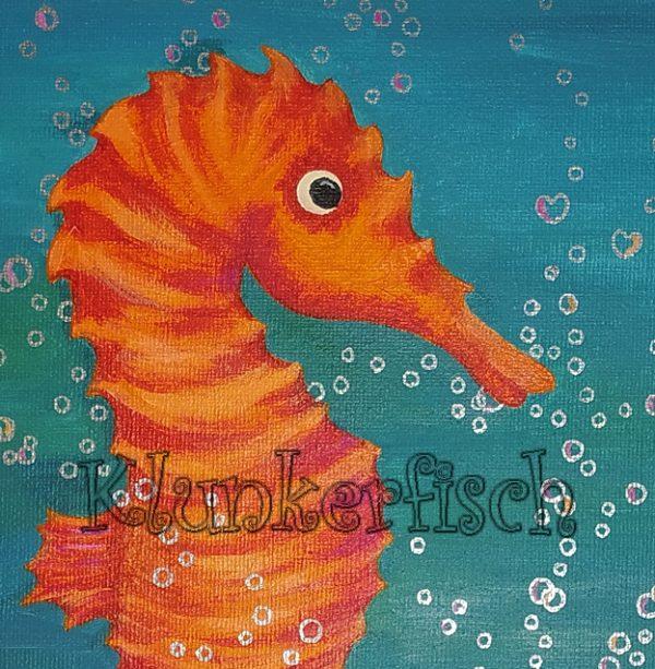 Acrylbild *Flirtende Seepferdchen*
