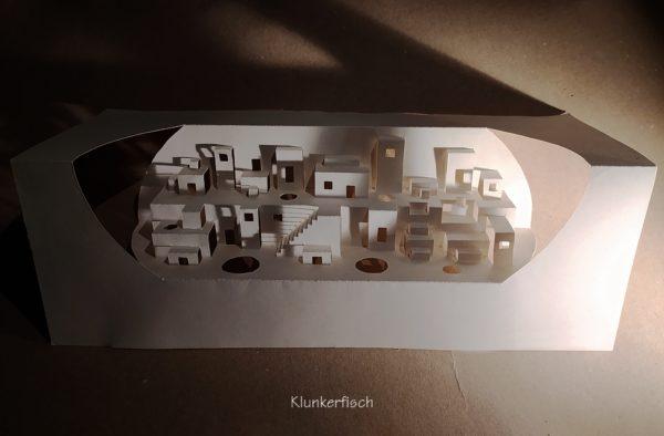 Faltschnittkarte *Pueblo*