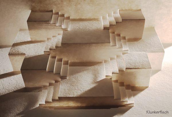 Faltschnittkarte *Treppenflucht*