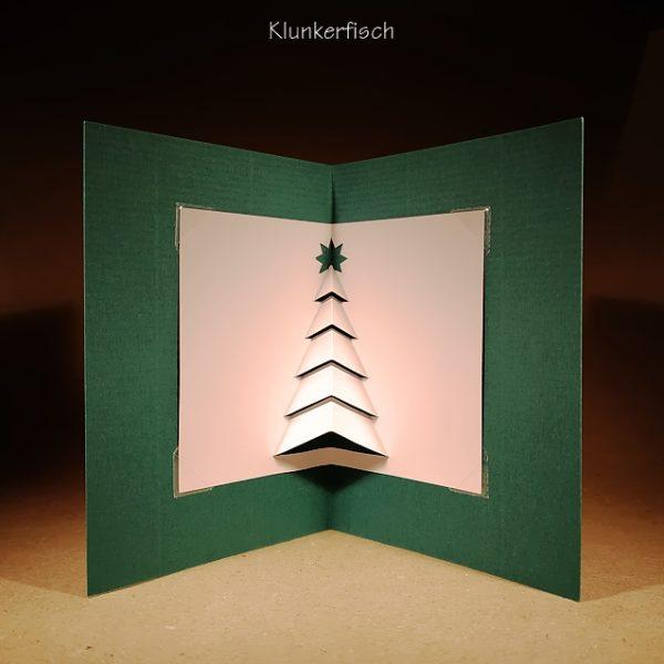 Faltschnittkarte *Weihnachtsbaum*