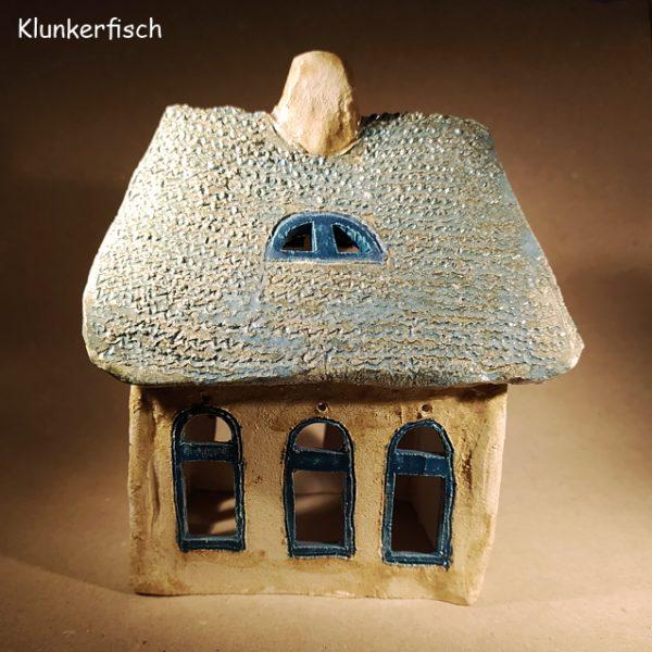 Keramik-Haus / Windlicht *Gotisches Haus*