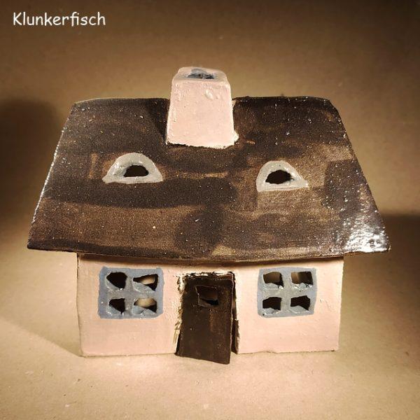 Keramik-Haus / Windlicht *Kleine Kate*