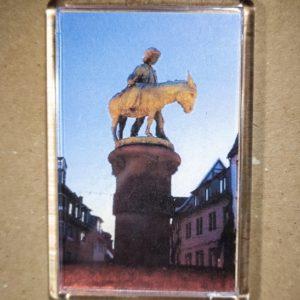 Rechteckiger Kühlschrank-Magnet mit Halle-Foto: Eselsbrunnen