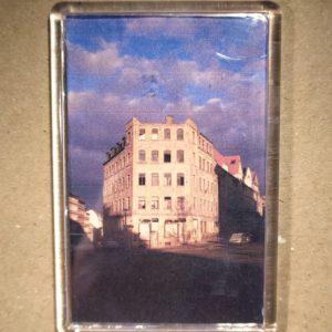Rechteckiger Kühlschrank-Magnet mit Halle-Foto: Verfallenes Haus