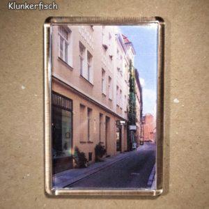 Rechteckiger Kühlschrank-Magnet mit Halle-Foto: Kuhgasse