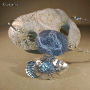 Filz-Kiesel-Halskette *Fisch & Stein*