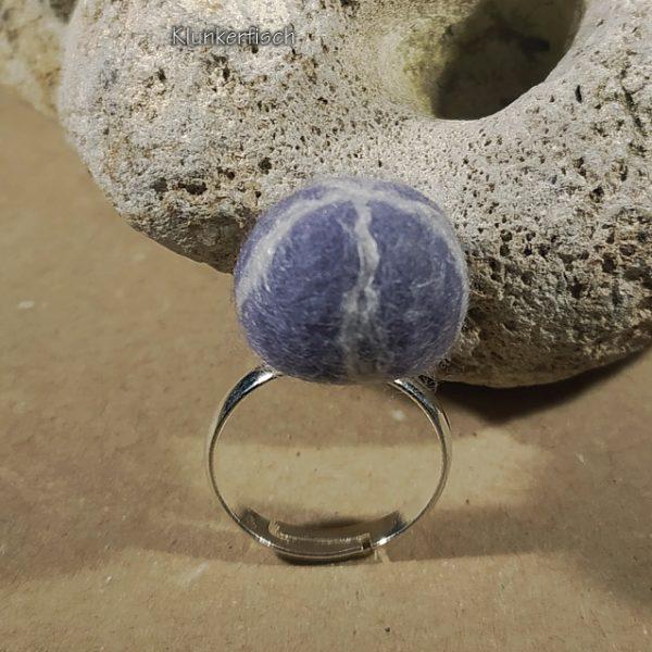 Filz-Kiesel-Ring *Seeigel* (II)