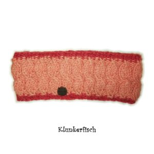 Warmes Stirnband in Apricot-Rost von Moshiki