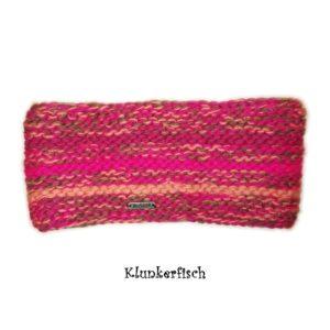 Warmes Stirnband in Pink-Apricot von Moshiki